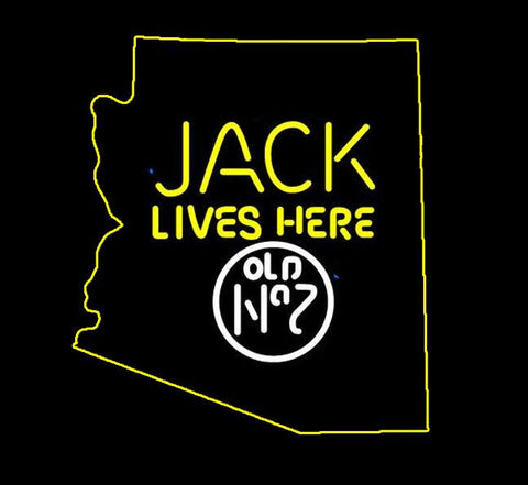 Jack Daniels Jack Lives Here Arizona  Real Neon Glass Tube Neon Sign