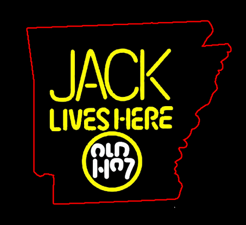Arkansas Jack Daniels Jack Lives Here Real Neon Glass Tube Neon Sign