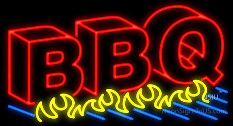 BBQ 3D Grill Neon Sign