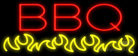 BBQ Flames Neon Sign