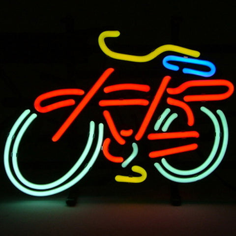 Professional  Bike Pub Beer Bar Real Neon Sign Christmas Gift Fast Ship