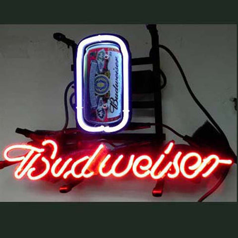Professional  Budweiser Can Beer Bar Neon Sign