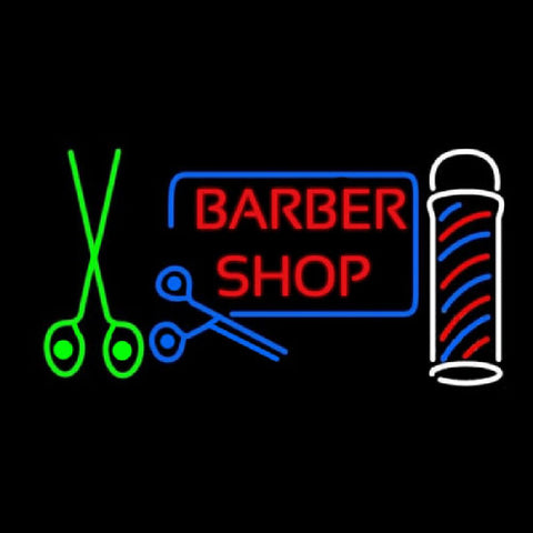 Barber Shop Hair Salon Handmade Art Neon Sign