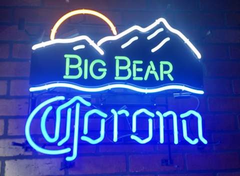 Big Bear Corona Handmade Art Neon Signs