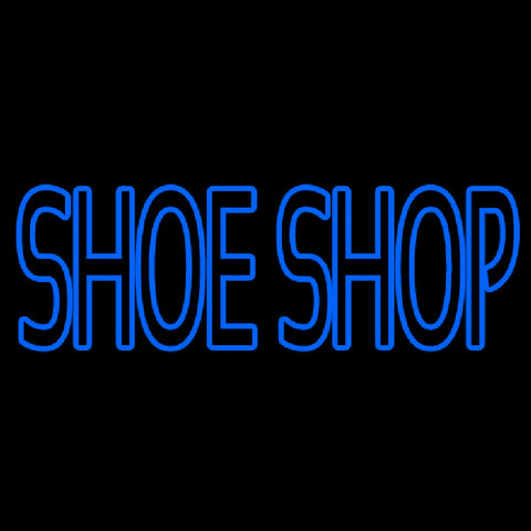 Blue Double Stroke Shoe Shop Handmade Art Neon Sign