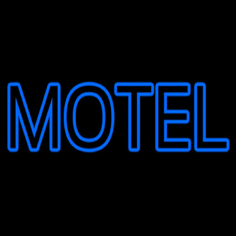 Blue Motel Double Stroke Handmade Art Neon Sign