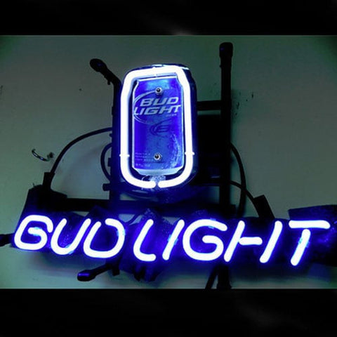 Bud Can Budweiser Handmade Art Neon Sign