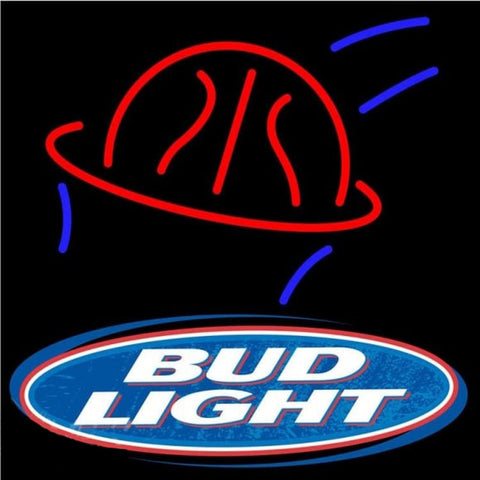 Bud Light Basketball Beer Sign Handmade Art Neon Sign