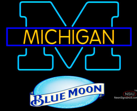 Bud Light Michigan University of Michigan Neon Sign