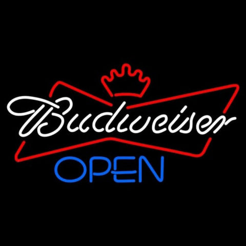 Budweiser Blue Open Handmade Art Neon Sign