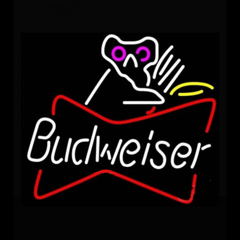Budweiser Bowtie Koala Bear Beer Light Handmade Art Neon Sign
