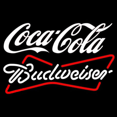 Budweiser White Coca Cola White Beer Sign Handmade Art Neon Sign