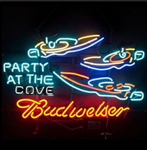 Budweiser Party At The Cove Neon Beer Sign