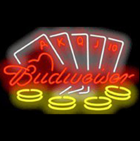 Budweiser Poker Neon Sign