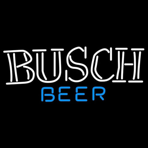 Busch Double Stroke Word Beer Sign Handmade Art Neon Sign