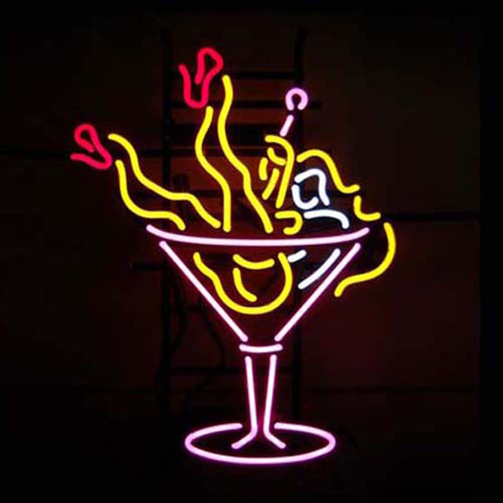 Professional Cocktail Beer Bar Open Neon Signs Bro Neon Sign