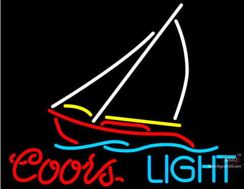 Coors light sailboat neon beer sign neonsigns usa inc coors light sailboat neon beer sign mozeypictures Gallery