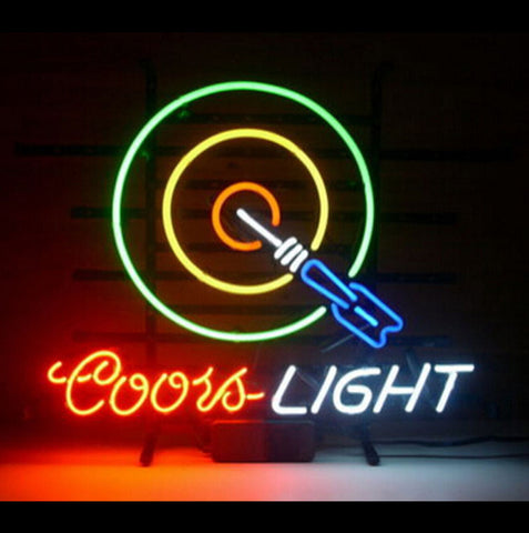 Coors Light Font B Dart B Font Bar Beer Pub Store Display Garage New Neon Light