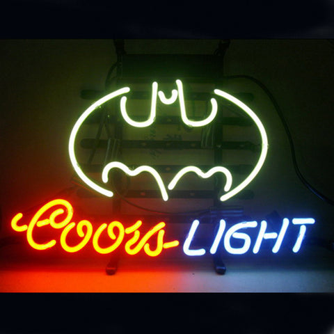 Professional  Coors Batman Beer Bar Open Neon Signs