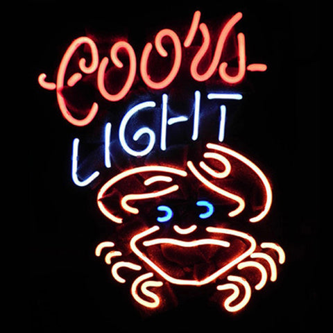 Professional  Coors Crab Beer Bar Neon Sign