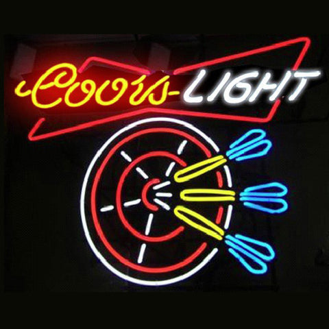 Professional  Coors Dart Beer Bar Open Neon Signs