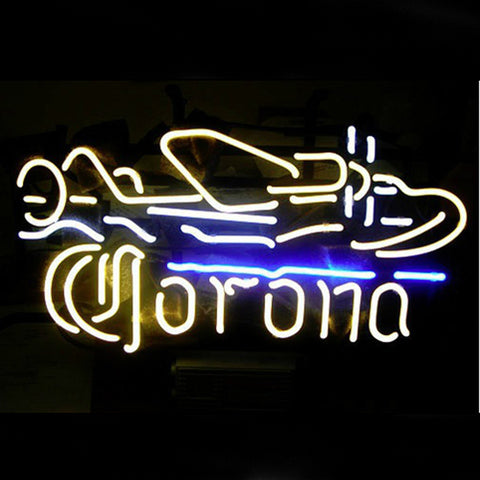 Professional  Corona Plane Beer Bar Neon Sign