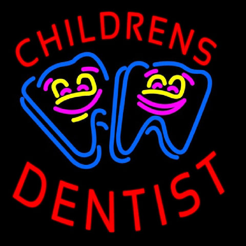 Childrens Dentist Handmade Art Neon Sign