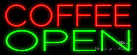 Coffee Open Plain Neon Sign