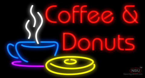 Coffee and Donuts Neon Sign