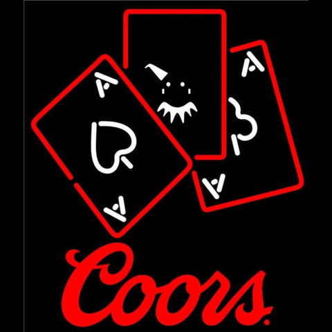 Coors Ace And Poker Handmade Art Neon Sign