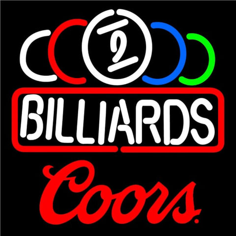 Coors Ball Billiard Text Pool Neon Beer Sign Handmade Art Neon Sign