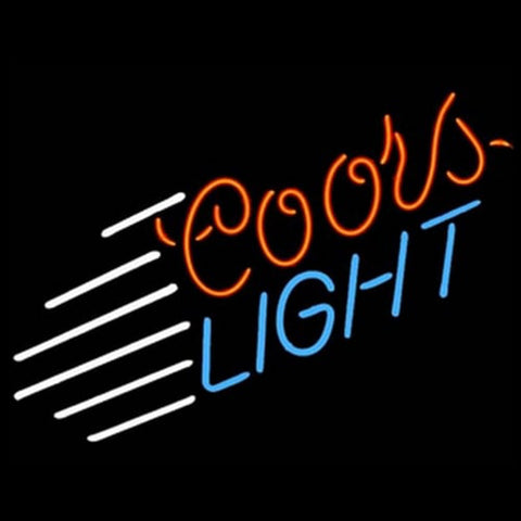 Coors Light Blue Stripe Handmade Art Neon Sign