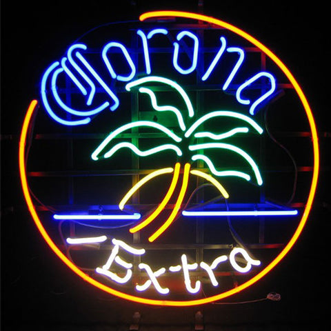 Corona Extra Palm Tree Neon Bar Sign