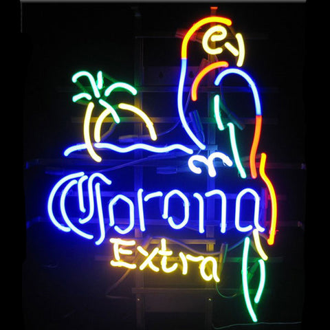 Corona Extra Parrot Neon Bar Sign