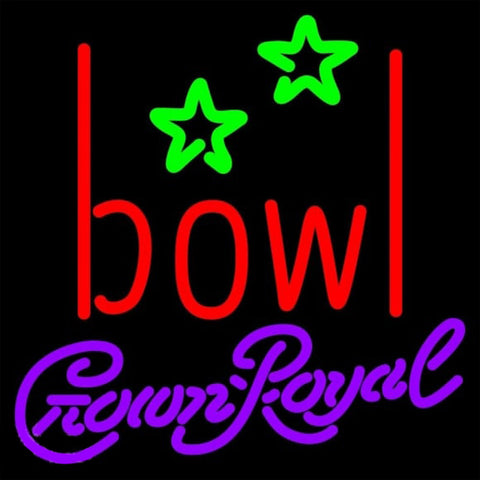 Crown Royal Bowling AlleyBeer Sign Handmade Art Neon Sign
