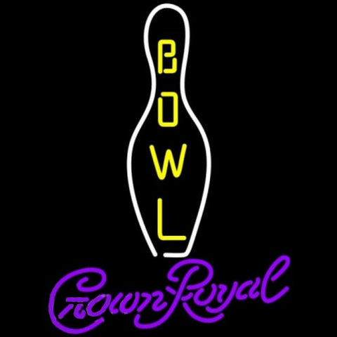 Crown Royal Bowling Beer Sign Handmade Art Neon Sign