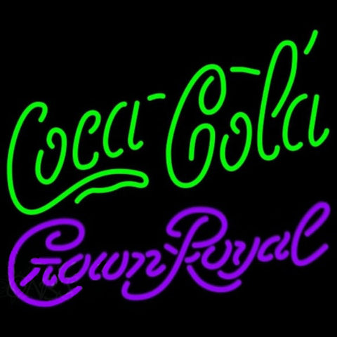 Crown Royal Coca Cola Green Beer Sign Handmade Art Neon Sign