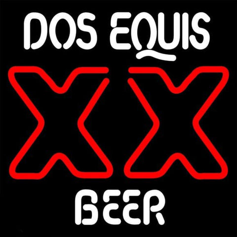 DOS Equis Beer Sign Handmade Art Neon Sign