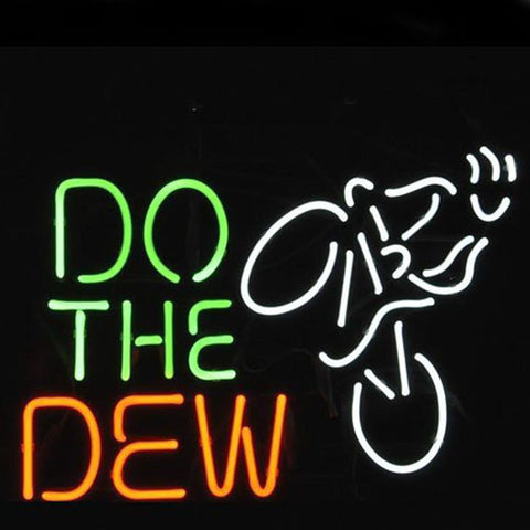 Professional  Do The Dew Mountain Bike Logo Beer Bar Real Neon Sign Xmas Gift Fast Ship