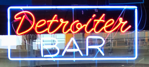 Detroit bar Real Neon Glass Tube Neon Signs