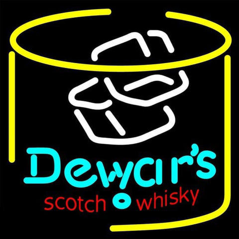 Dewars Scotch Whisky Handmade Art Neon Sign