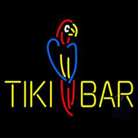 Dolphin Tiki Bar Neon Sign