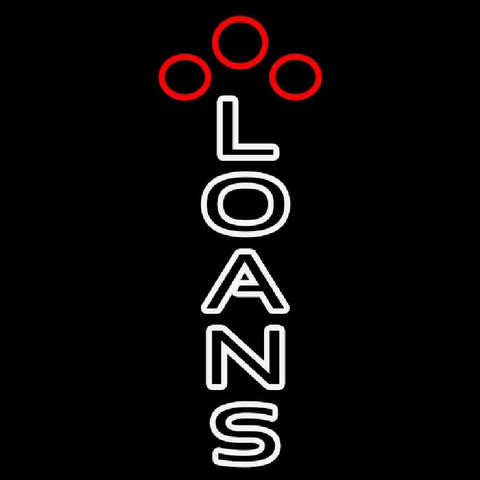 Double Stroke Loans Handmade Art Neon Sign