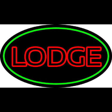 Double Stroke Lodge Handmade Art Neon Sign