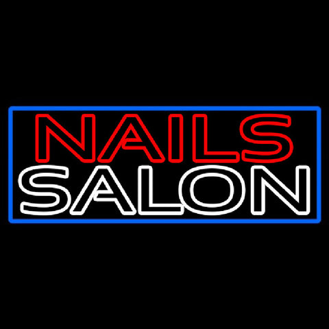 Double Stroke Nail Salon Handmade Art Neon Sign