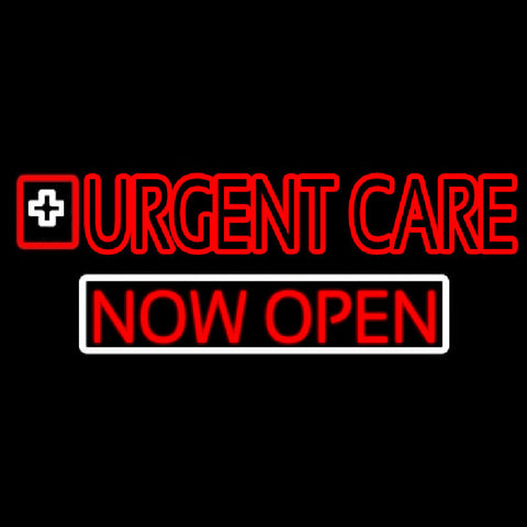 Double Stroke Urgent Care Now Open Handmade Art Neon Sign