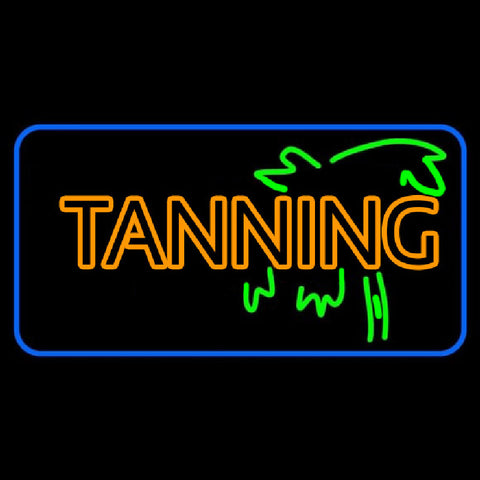 Double Stroke Yellow Tanning Handmade Art Neon Sign