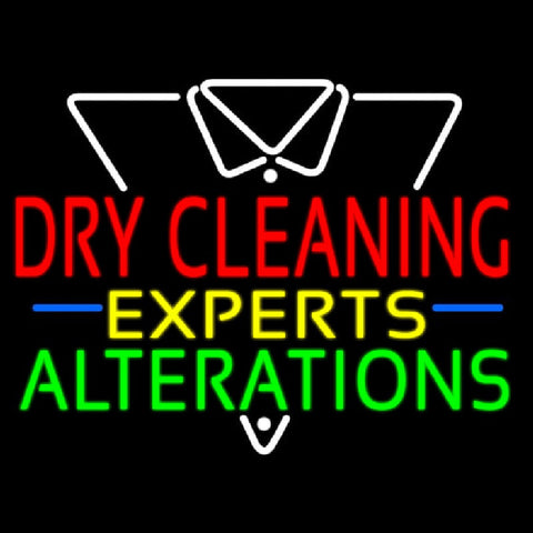 Dry Cleaning Experts Handmade Art Neon Sign