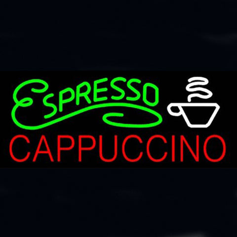 Professional  Espresso Cappuccino Shop Open Neon Sign