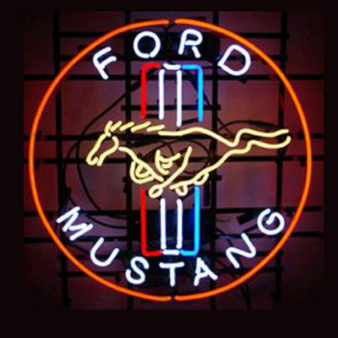 Professional  Ford Mustang Shop Open Neon Sign